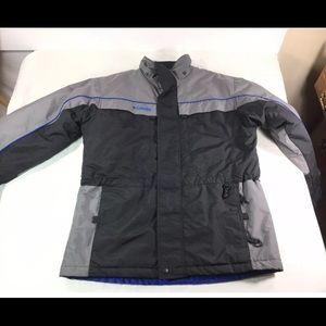Columbia Boys Unisex Black/Blu Jacket/Coat Sz18-20